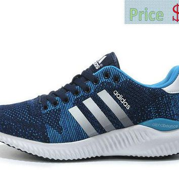 2018 Where To Buy Sneaker Adidas Alphabounce Fall Primeknit Navy Blue Sport Turquoise Silver sneaker