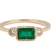 JENNIE KWON DESIGNS — EMERALD LEXIE RING