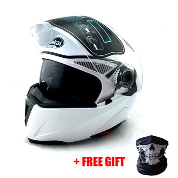 NEW ARRIVE DOT ECE sticker JIEKAI 105 Flip Up Motorcycle helmet / motocicleta casco Helmets motocross racing helmet M L XL XXL