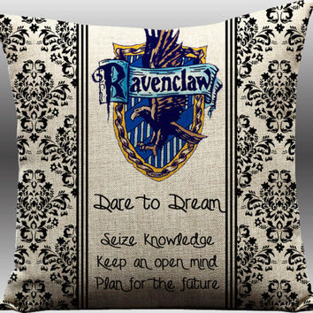 Harry Potter Ravenclaw House Hogwarts Crest J.K. Rowling Book Movie Entertainment Memorabilia New Sofa Throw Pillow Case Cushion Cover Set