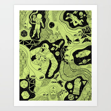 Cosmic Atomic Art Print by Josh Ln