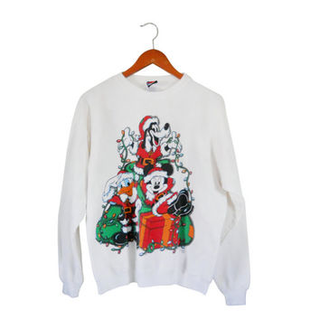 Ugly Christmas Sweater Party Tacky Christmas Sweater Ugly Holiday Sweater Holiday Sweatshirt Plus Size Christmas Sweater Mickey Christmas