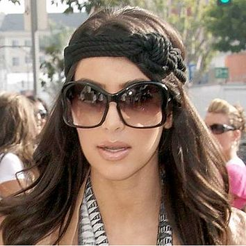 Womens Celebrity Kim Kardashian Fashion NYC Oversize Butterfly Sunglasses 8576