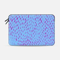 "Blue/Pink Paint Dabs Macbook 12"" sleeve by M I C H I K O 