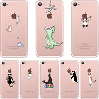 Cute Silicon Animal Simple iPhone Cases