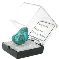 Blue Turquoise Polished Natural Nugget Thumbnail Mineral, Mexican Gemstone Geo Sample for your rock and mineral curio or Gemstone Focal