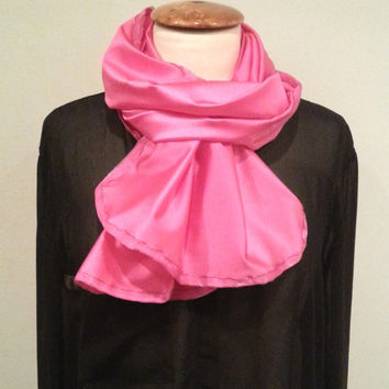 Pink jersey scarf, pink ribbon, womans pink scarf, womens pink scarfs, pink scarves, danish fasion, winter accessories, gift idea for her