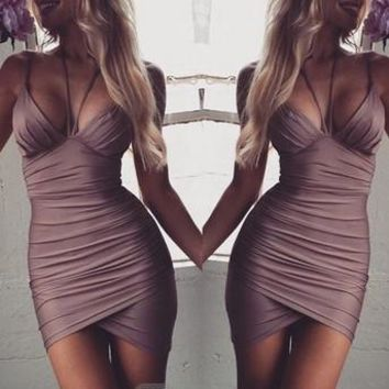 Women's  Fashion Strap Dress