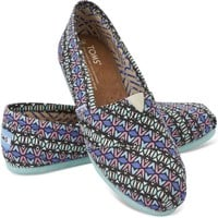 TOMS Multi Kaleidoscope Canvas Women's Classics Slip-On Shoes,