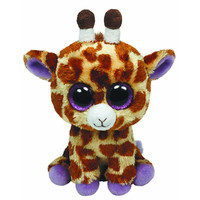 TY Beanie Boos - SAFARI the Giraffe (Glitter Eyes) (Regular Size - 6 inch)