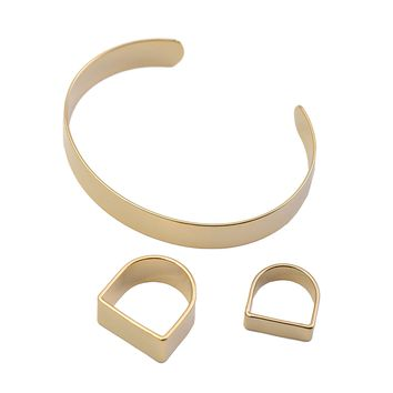 Stackable Simple Band Ring and Bracelet Set of 3