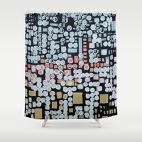 :: White Noise :: Shower Curtain by :: GaleStorm Artworks ::