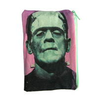Frankenstein Makeup Bag / Pencil Pouch by oliviafrankenstein