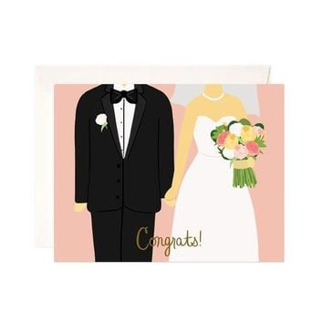 WEDDING CONGRATS GREETING CARD