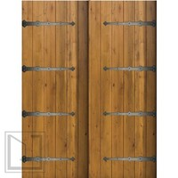 Slab Home Double Door 80 96 Knotty Alder Rustic Plank Solid