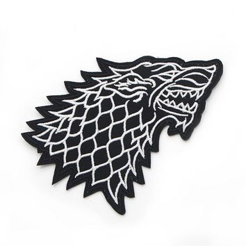 Homegaga Animal Clothes Patch Game of Thrones Wolf Household Iron-on Stickers Patches DIY Decoration Appliqued badges D0177