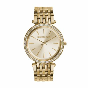 Michael Kors Darci Yellow Gold-Tone Stainless Steel Ladies Crystal Watch