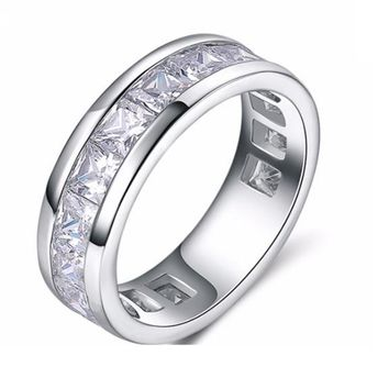 Cubic Zirconia Wedding Rings for Men & Women