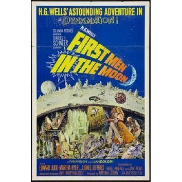 First Men In The Moon poster Metal Sign Wall Art 8in x 12in
