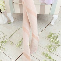Spiral Semi-sheer Tights - OASAP.com