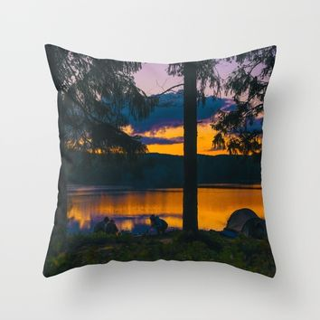 Down By The River Throw Pillow by Gallery One