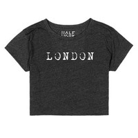 London-Female Heather Onyx T-Shirt