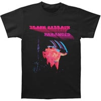 Black Sabbath Men's  Paranoid Motion Trails T-shirt Black Rockabilia