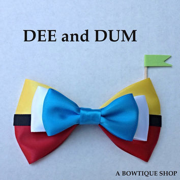 dee and dum hair bow