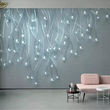 beibehang Custom photo wallpaper mural 3d stereoscopic glare glass particle cloth TV background wall papers home decor