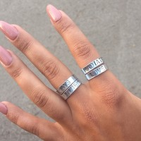 hand stamped rings duo