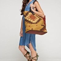 Navajo Carpet Boho Artisan Weekender Bag