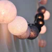Mixed dark grey ball string lights for Patio,Wedding,Party and Decoration (20 bulbs)