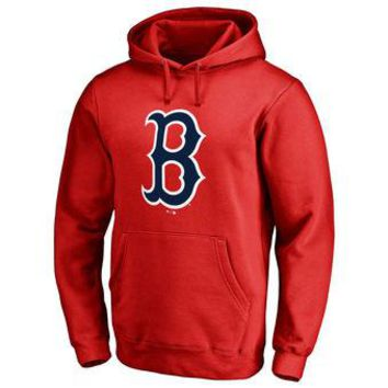 Boston Red Sox MLB Red Fastball Fleece Pullover Hoodie