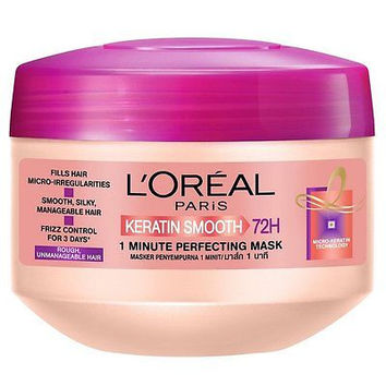 L'Oreal Paris Keratin Smooth 1 Minute Perfecting Mask Treatment 200ml 6.8oz