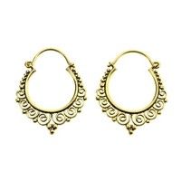 Messing Filigree Hoops | All Over Piercings