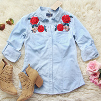 Thunder Rose Chambray Top
