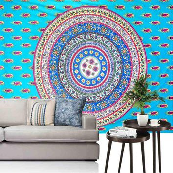 Ouneed India Wall Tapestry Mandala Hanging Beach Towel Blanket Mat hippie  Printed Table Cover toalla de playa Happy Sale ap516