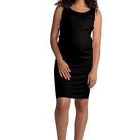 Ellie Flora Women's Ruched Maternity Bodycon Mama Causual Sleeveless Dresses