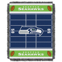 Seattle Seahawks NFL Triple Woven Jacquard Throw (Field Baby Series) (36x48)