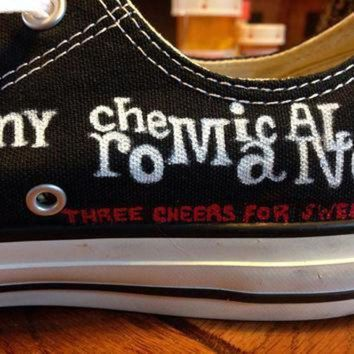 ICIKGQ8 hand painted my chemical romance converse