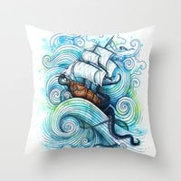 Long Journey Throw Pillow by Enkel Dika