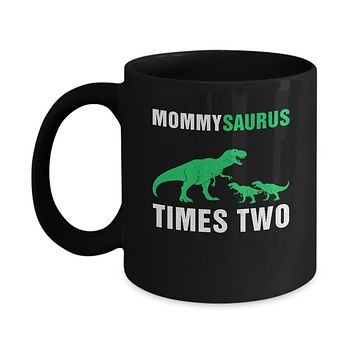 Mommysaurus Times Two Twins Mothers Day Mug