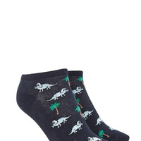 Dinosaur Palm Tree Ankle Socks