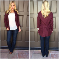 Stand By Knit Cardigan - Wine