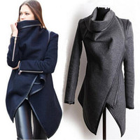 New Winter Woolen Overcoat Trench Coat