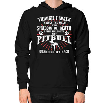 PITBULL MY BACK Hoodie (on man)