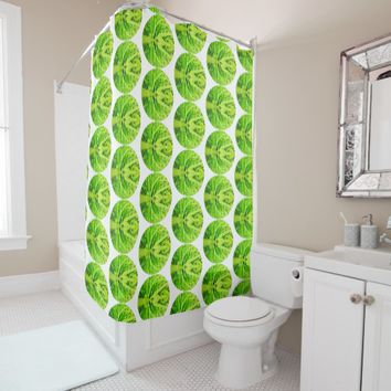 Stylish Bright Green Grass Shower Curtain