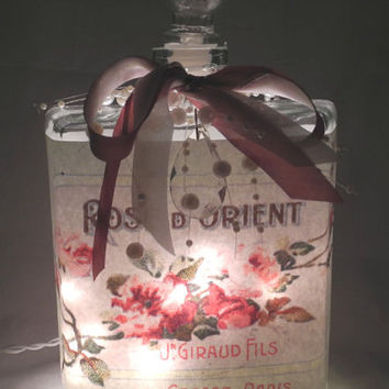Orient Rose Perfume Bottle Nightlight ( Night Light )