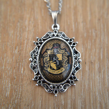 Harry Potter (inspired), House Crest, Hufflepuff necklace