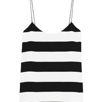 Tibi Stripe Cami - Silk Tank Top - ShopBAZAAR